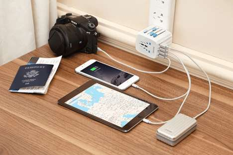 Sleek International Power Adapters - The Passport Adapter Can Be Used to Charge Devices Anywhere