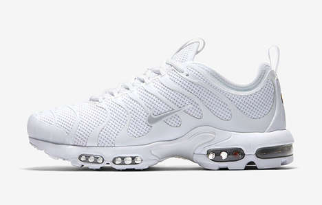 Cushioned Monochromatic Sneakers - The Nike Air Max Plus TN Ultra is Updated in Triple White