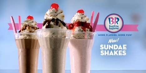 Milkshake-Sundae Hybrids - Baskin Robbins is Offering a Milkshake and Sundae Combination