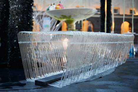 Rain-Filled Public Benches - The Tropic City Bench Collects and Circulates Rainwater