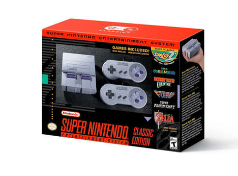 Mini Reissued Gaming Consoles - The SNES Classic Boasts 21 Built-in Games for Nostalgic Gamers