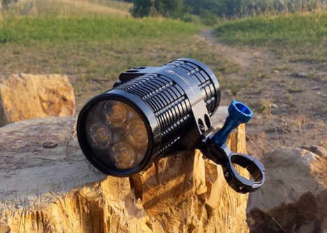 Ultra-Bright Bicycle Lights - The 'Fire Cannon' Bike Flashlight Offers a Staggering 2,400 Lumens