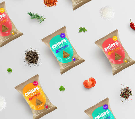 Revamped Cricket Chips Packaging - The Chirps Brand Has Been Redesigned to Appear More Modern