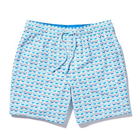 Dapper Dual-Sided Swimwear - The Original Penguin Reversible Volley Swim Trunks are Ideal for Travel