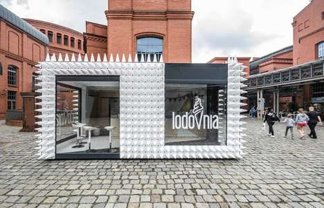 Spiky Ice Cream Shops - LODOVNIA's Flagship Store is Covered by a Series of Cones