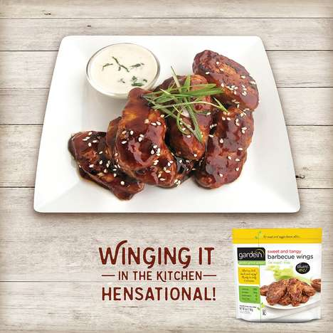 Meatless Barbecue Chicken Wings - Gardein Offers Healthy Alternatives to Chicken Wings