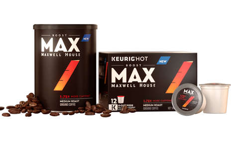 Custom Caffeine Level Coffees - The Maxwell House Coffee Max Boost Line Answers Consumer Demand