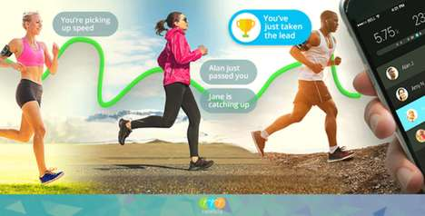 Collaborative Exercise Apps - The Racefully Running App Lets You Digitally Exercise with Friends