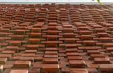 Textured Red Brick Facades