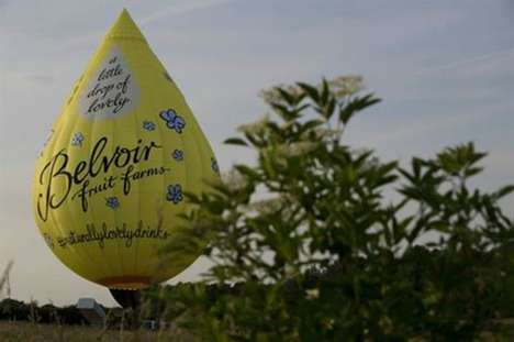 Air Balloon Juice Tours - The Belvoir Fruit Farms Events Offering Includes a Hot Air Balloon Ride