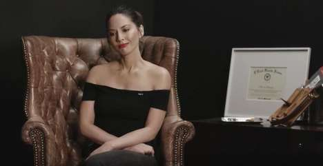 Celebrity Jerky Connoisseur Campaigns - Olivia Munn is a Master Jerky Sommelier for Chef's Cut
