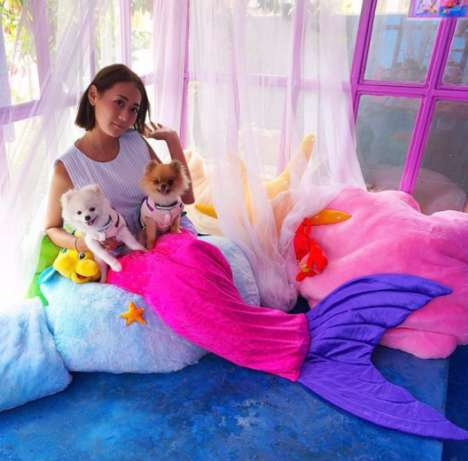 Mermaid-Themed Cafes - The Mermaid Island Cafe Will Give Guests a Tail to Wear Over Their Clothes