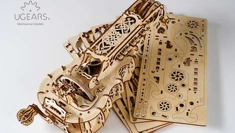 Medieval Musical Kits - This Hurdy Kit Combines Jigsaw Puzzle and Musical Instrument Sensibilities