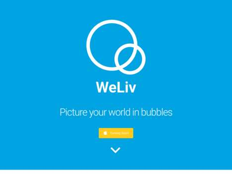 Confidential Mobile Social Apps - The WeLiv App Lets You Decide Privacy Settings Per 'Bubble'