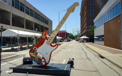 Gigantic Guitar Installations - This Musical Installation is Designed to Attract Festival-Goers