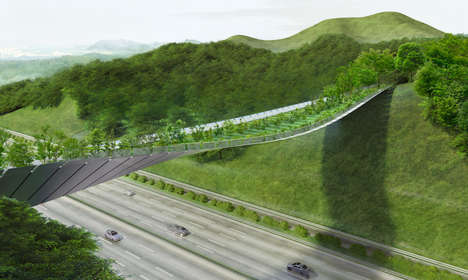 Living Green Bridges - This Organic Structure Provides a Safe Path for Wildlife in Seoul
