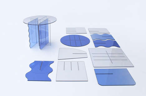 Scrap Plastic Tables - TINGE Tables by Ulrike Jurklies Don't Require Tools or Hardware for Assembly