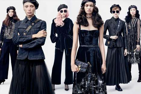 Military-Inspired High Fashion Campaigns - The Fall/Winter Dior Line Draws from Different Sources