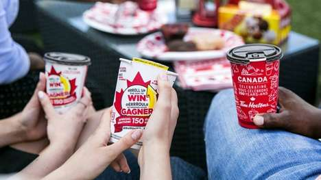 Celebratory Coffee Contests - Tim Horton's Launched a Special Canada 150 Edition of Roll Up the Rim