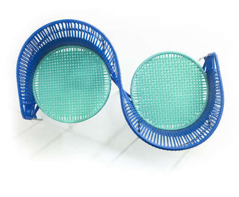 Colorfully Woven Outdoor Furniture - The Caribe Furniture Collection is Made from Recycled Plastic
