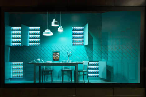 Baked Beans Retail Windows - The Beanz Meanz Heinz Selfridges Window is on Display in London