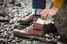Flask-Infused Hiking Boots - The Oliver Sweeney x Talisker 'Made By The Sea' Boots are High-Quality