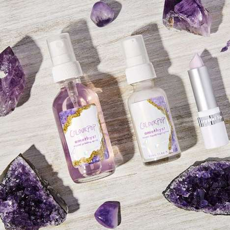 Crystal-Infused Beauty Products - ColourPop's Crystal Cosmetics are Infused with Amethyst and Quartz
