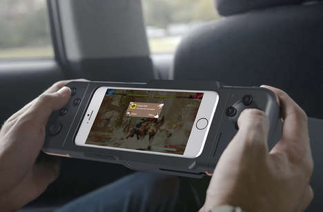 Multi-Position Smartphone Gamepads - The Conceptual Nintendo Cross Turns the iPhone into a Gameboy