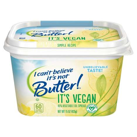 Plant-Based Oil Spreads - I Can't Believe It's Not Butter! is Available in an 'It's Vegan' Version