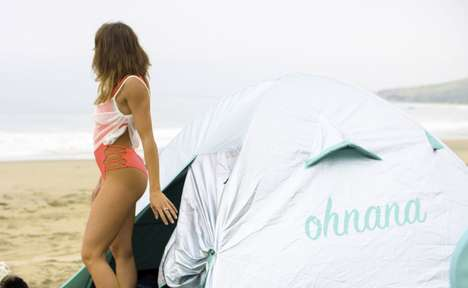 Cooling Music Festival Tents - The Ohnana Festival Camping Tent Deflects the Sun to Keep You Cool