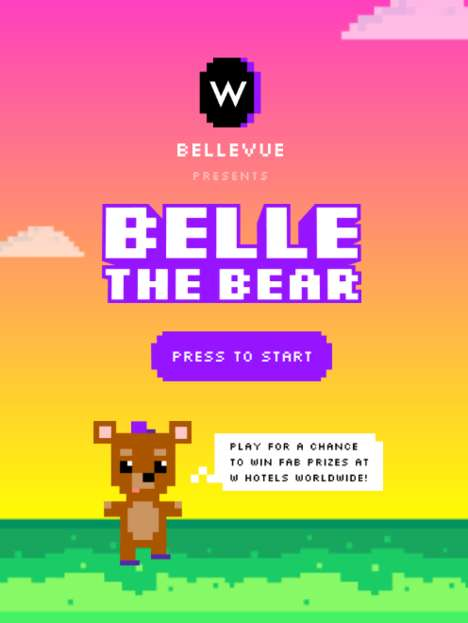 8-Bit Hotel Games - 'Belle the Bear' is a Frogger-Style Game from W Hotels That Offers Real Prizes