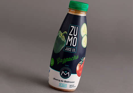 Seawater-Based Gazpacho - Seawater's Mediterranean Vegetable Gazpacho is Rich in Minerals