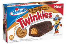 Peanut Butter-Filled Cakes - The Hostess Chocolate Peanut Butter Twinkies are a Tasty New Option