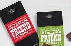 Christmas Friendship Chocolates - Quirky Gift Library's Christmas Chocolate Bars Celebrate Friends