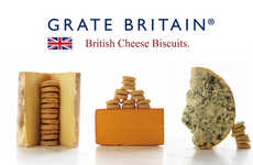 Patriotic Cheese Biscuits - The Grate Britain Biscuits Come in Three Rich and Savory Flavors