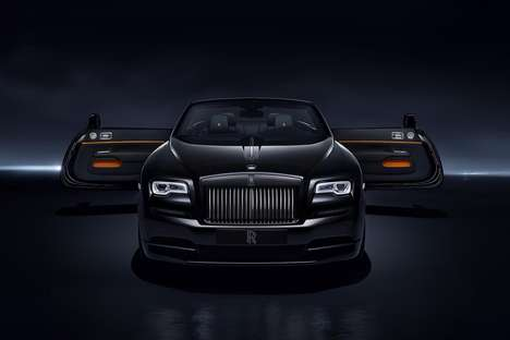 Millennial-Focused Convertibles - The 'Black Badge' Edition Rolls Royce 'Dawn' is Totally Customized