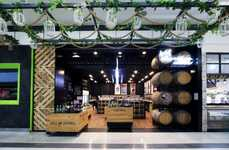 Authentic Galleria Wine Shops - The WA Cleanskin Cellars Shop in Perth uses Upcycled Materials