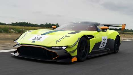 Aerodynamic Carbon Fiber Cars - The Aston Martin Vulcan AMR Pro Offers Rip-Roaring Track Performance