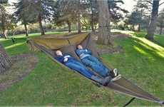 Clamshell Tent Hammocks - The Treble Hammock 2.0 Has Enough Space For Two People to Sleep Or Lounge