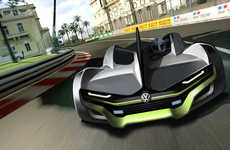 Open-Top Commuter Race Cars - Soyeon Kim's 2023 Volkswagen Concept Imagines a Performance-focused VW
