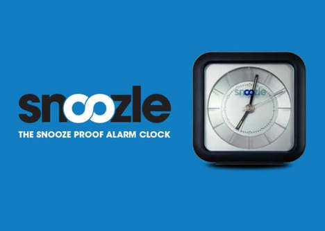 Snooze-Stopping Alarm Clocks - The 'Snoozle' Morning Alarm Clock Stops When Placed on the Base