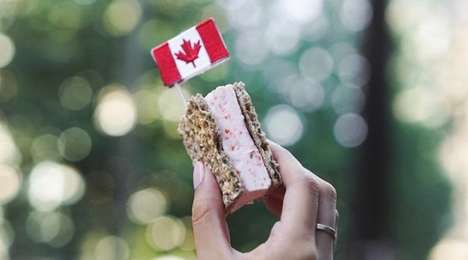 Savory Ice Cream Sandwiches - Mister is Serving Smoked Salmon Ice Cream Sandwiches for Canada 150