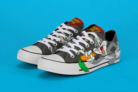 Rival Cartoon Character Sneakers - Converse's Looney Tunes Rivalry Line Features Iconic Enemies