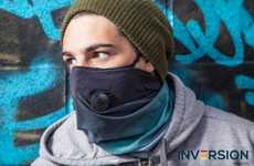 Face Warmer Filtration Masks - The Inversion Gaiter 2.0 Air Filter Mask Filters Pollution and More