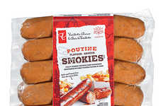 Poutine-Flavored Sausages - These Pork Sausages from President's Choice Boast a Canadian Flavor