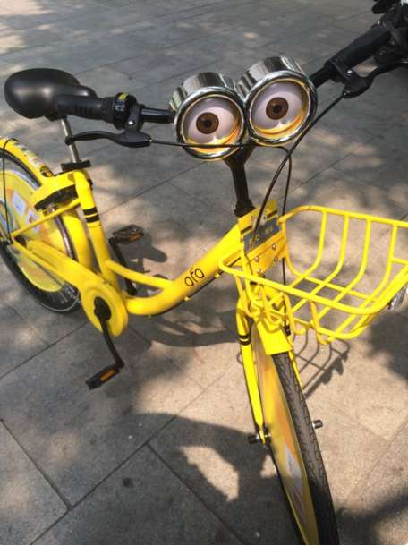 Mobile Minion Advertisements - 'Ofo' Dresses Its Bikes as Minions to Promote Despicable Me 3