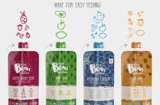 Cold-Blended Toddler Foods - The Keen Bean Organic Baby Blends are Real Meals in Pouch Packaging