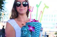 Massive Mermaid Cocktails - Watermark Bar's 'The Siren' Weighs 114 Ounces