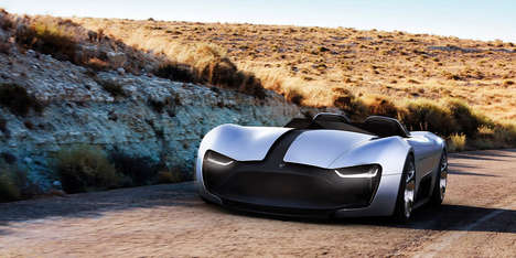 Topless EV Successors - The Tesla Roadster Y Concept is a Radical Sequel to the Company's First Car