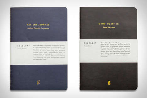 Cannabis Documentation Notebooks - The Goldleaf Cannabis Journals are Eco-Friendly Stationery